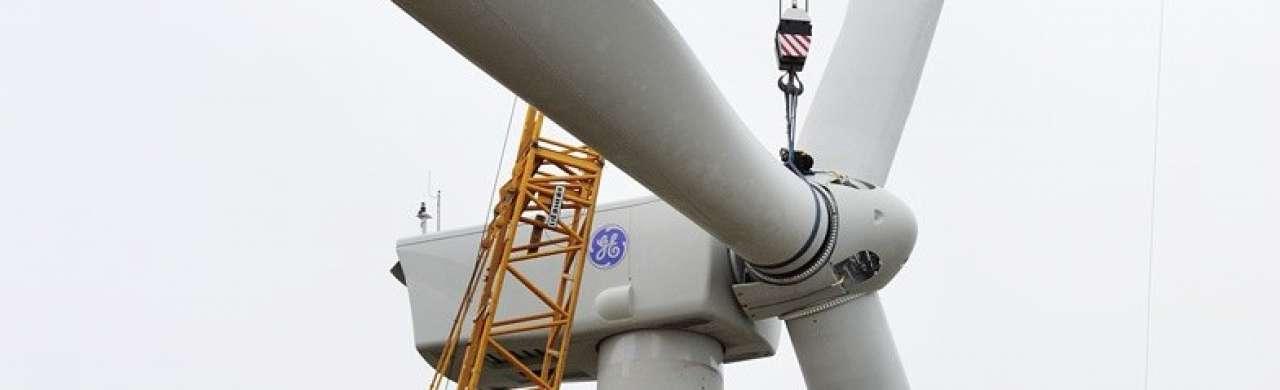 General Electric plaatst efficiëntste windmolen in Wieringermeer