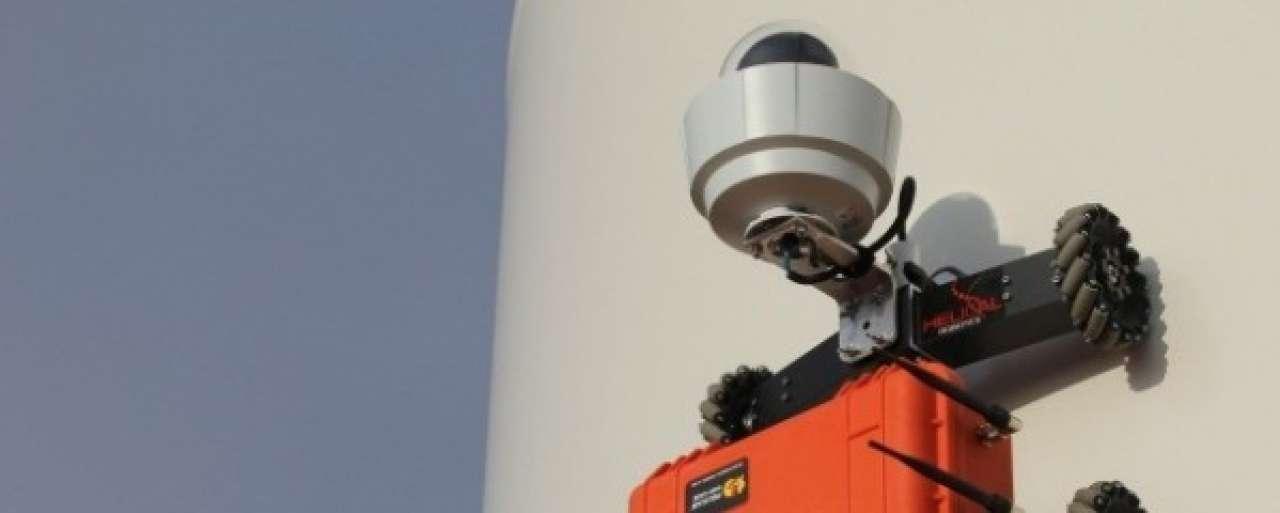 Onderhoud windmolens goedkoper door klimmende robot