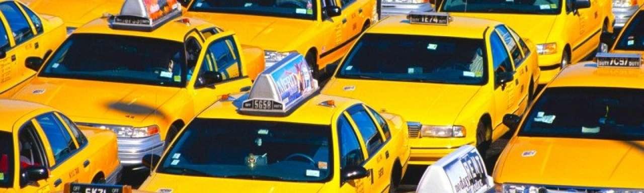 6 'yellow cabs' start van elektrisch wagenpark New York