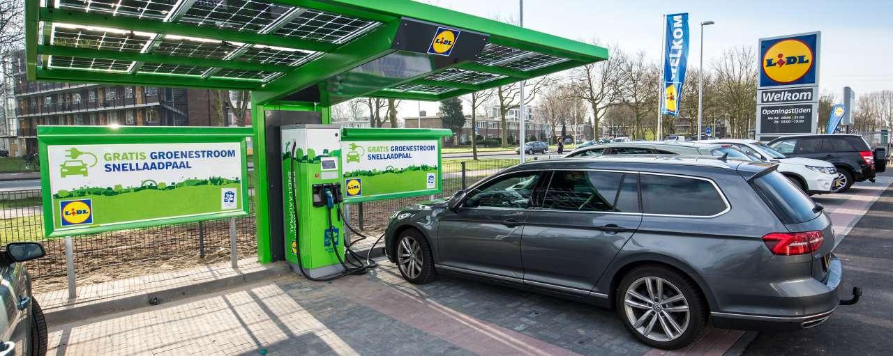 gratis oplaadpunten elektrische auto lidl