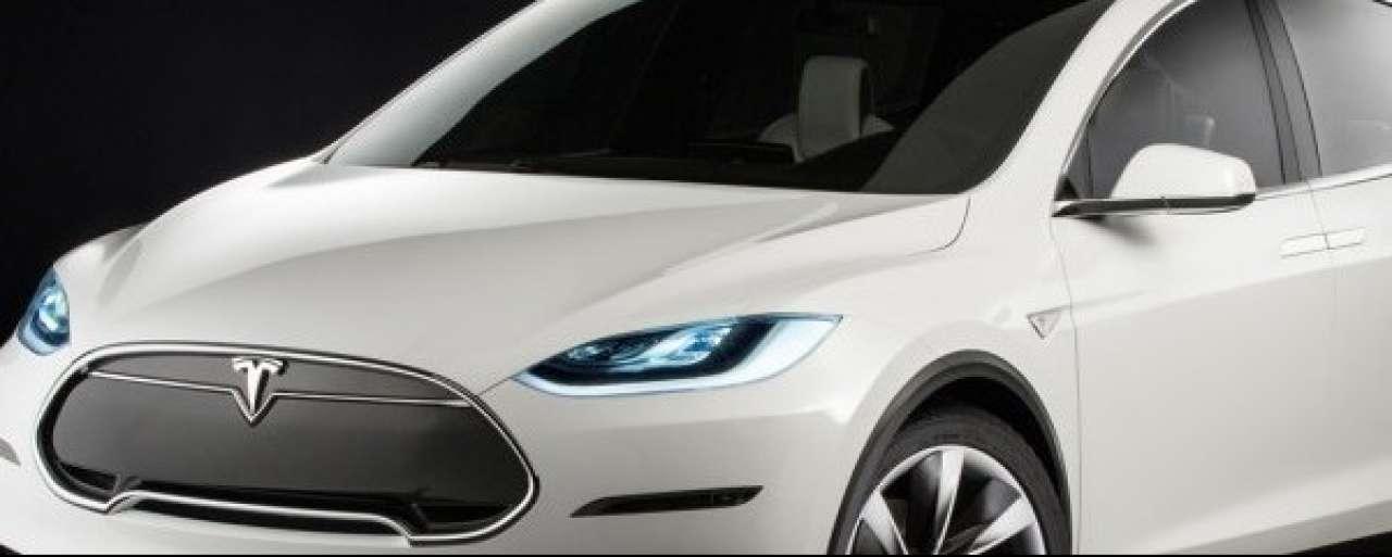 Model X Tesla gespot in VS