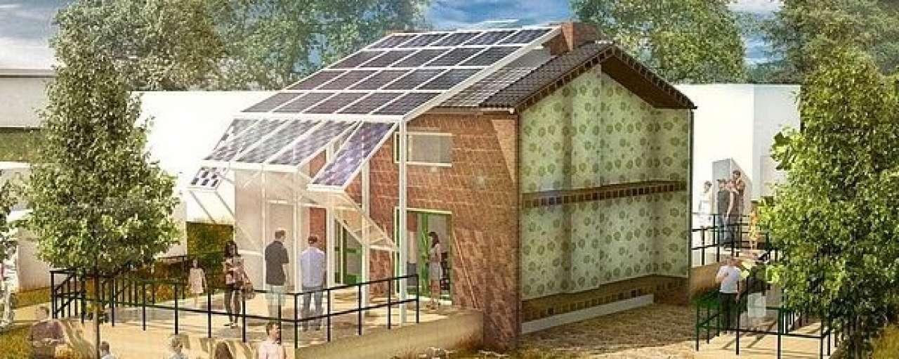 Studenten TU Delft maken energieneutraal rijtjeshuis