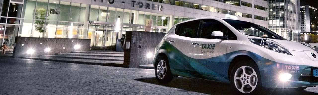 Amsterdamse elektrische taxi's een succes