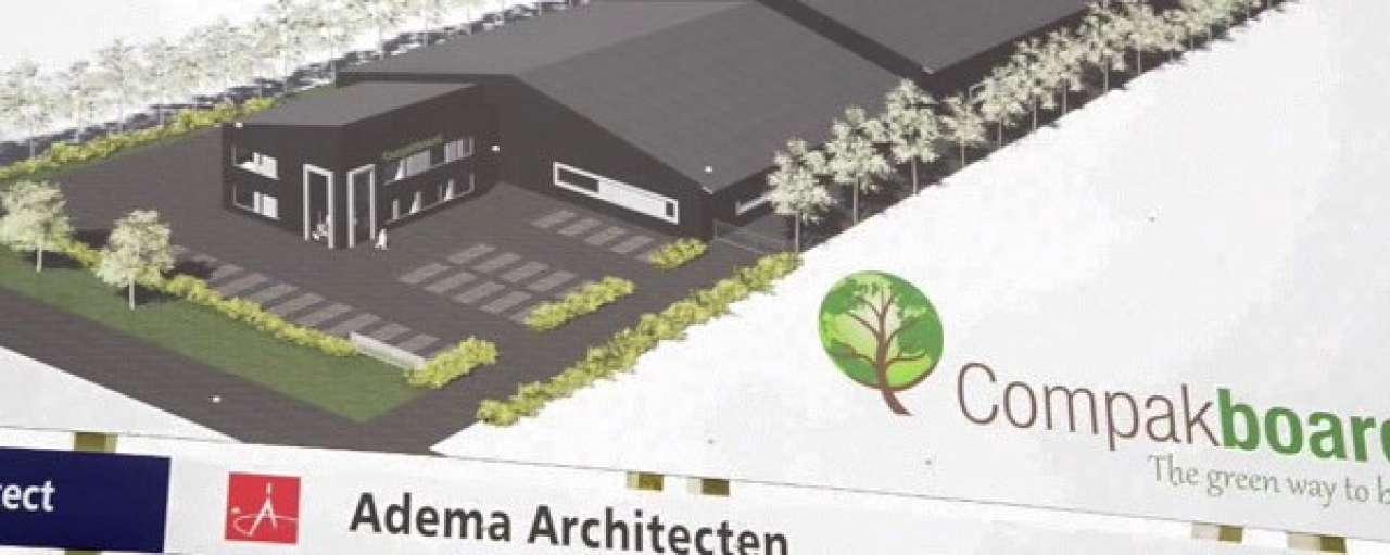 Bouw fabriek duurzame platen gestart in Friesland