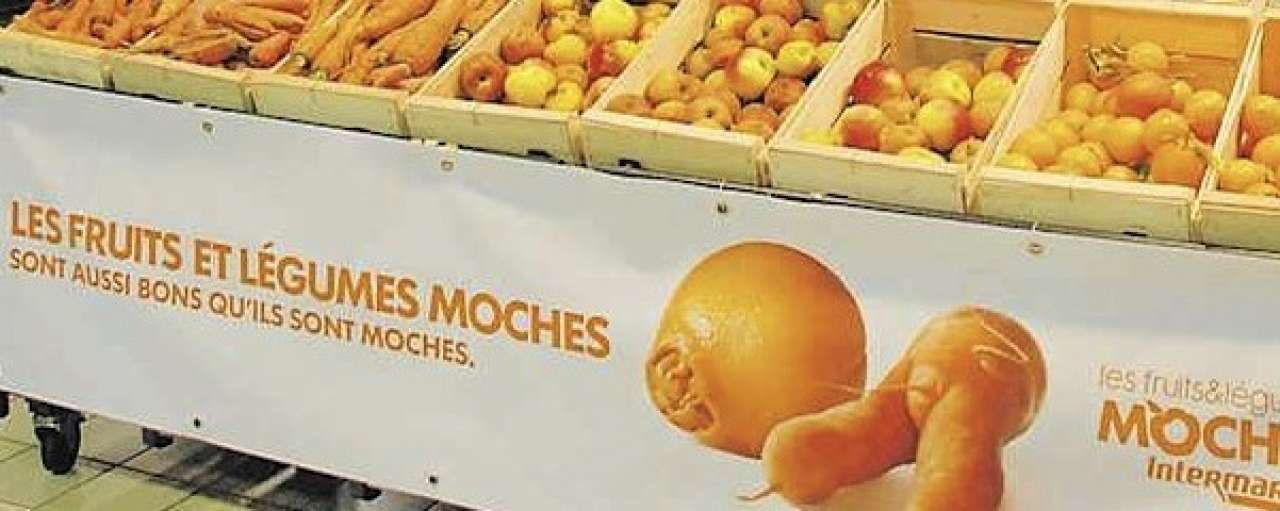 Supermarkt verleidt klanten met groentenafval