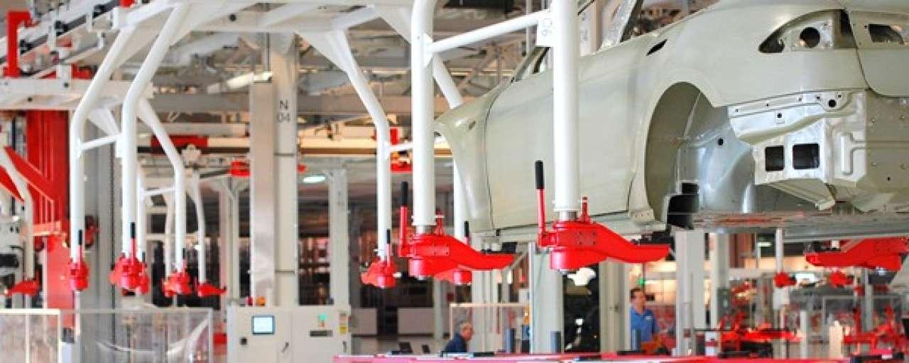 Flitsrenovatie Tesla-fabriek voor Model X
