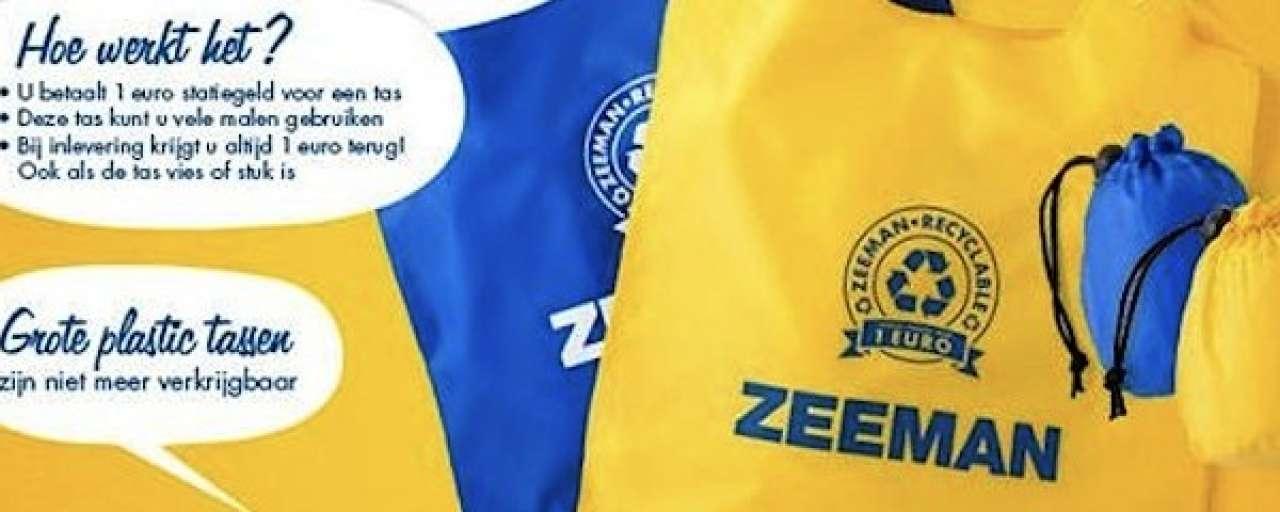 Zeeman schaft plastic tasjes af