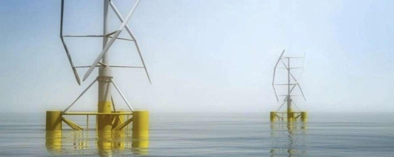 Frankrijk test verticale windmolens op zee