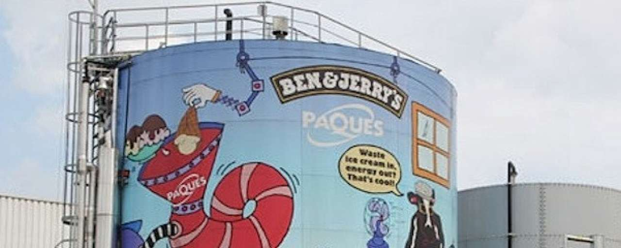 Ben & Jerry's maakt biogas van ijs