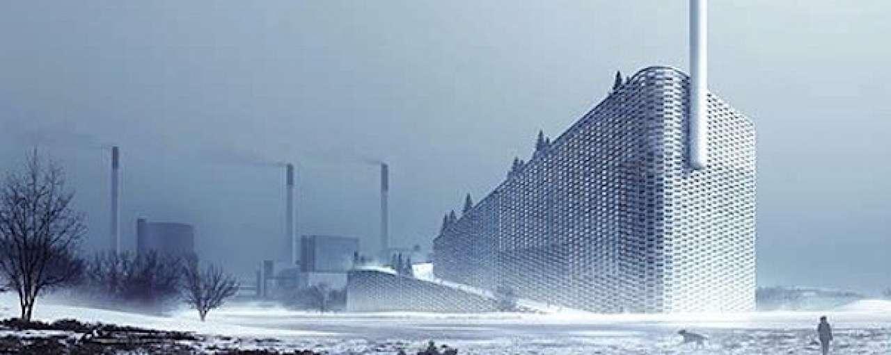 Deense afvalenergiecentrale vermomd als skihelling