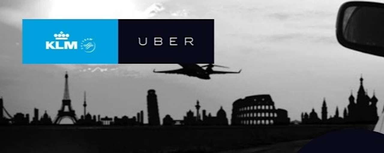 KLM geeft Uber-tegoed bij boeking Citytrip