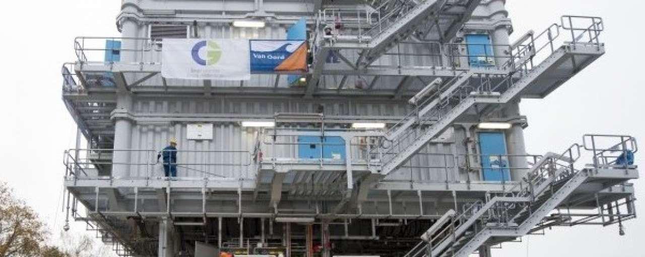 Stopcontact offshore windpark klaar voor installatie