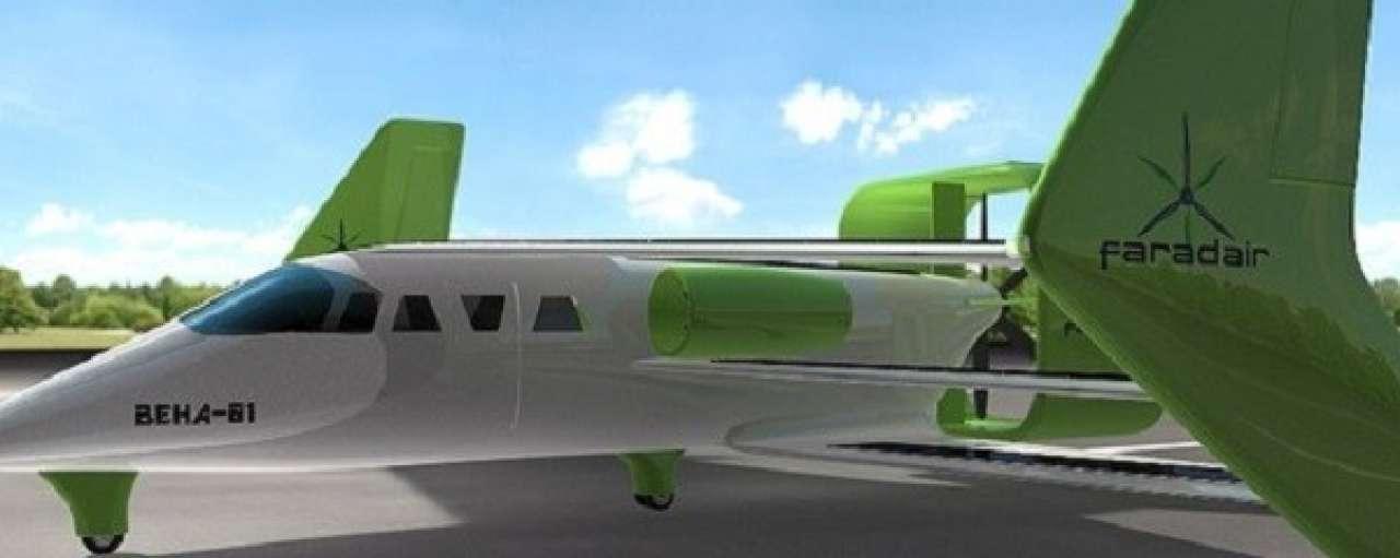 Hybride eco-vliegtuig Faradair