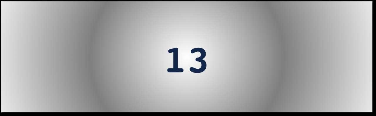 Getal van de dag: 13