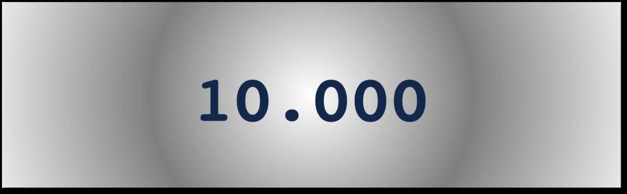 Getal van de dag: 10.000