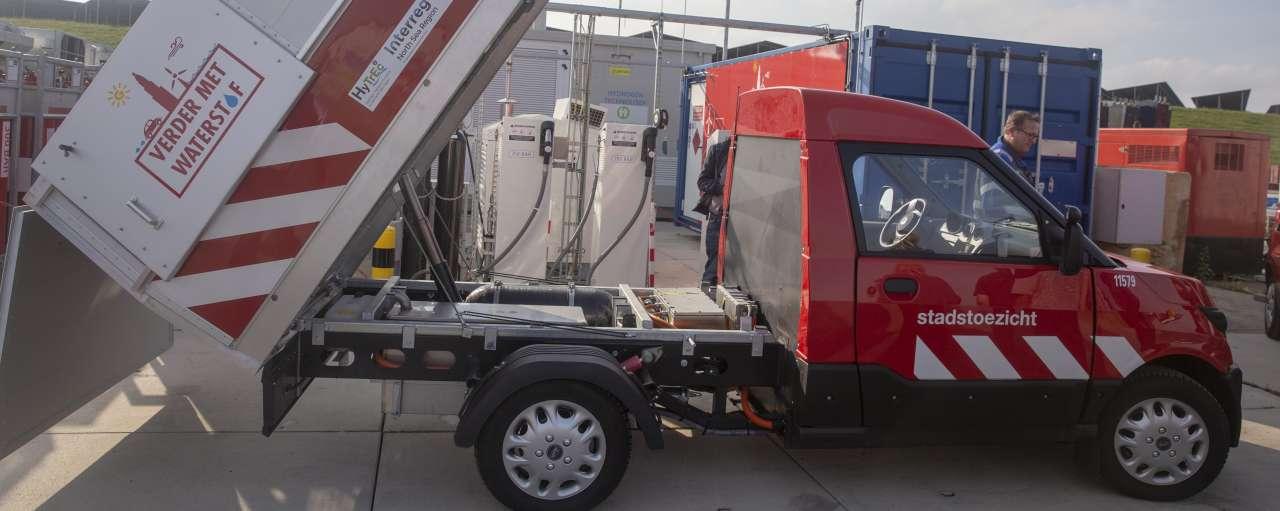Waterstof afvalwagen Groningen duurzaamheid mobiliteit