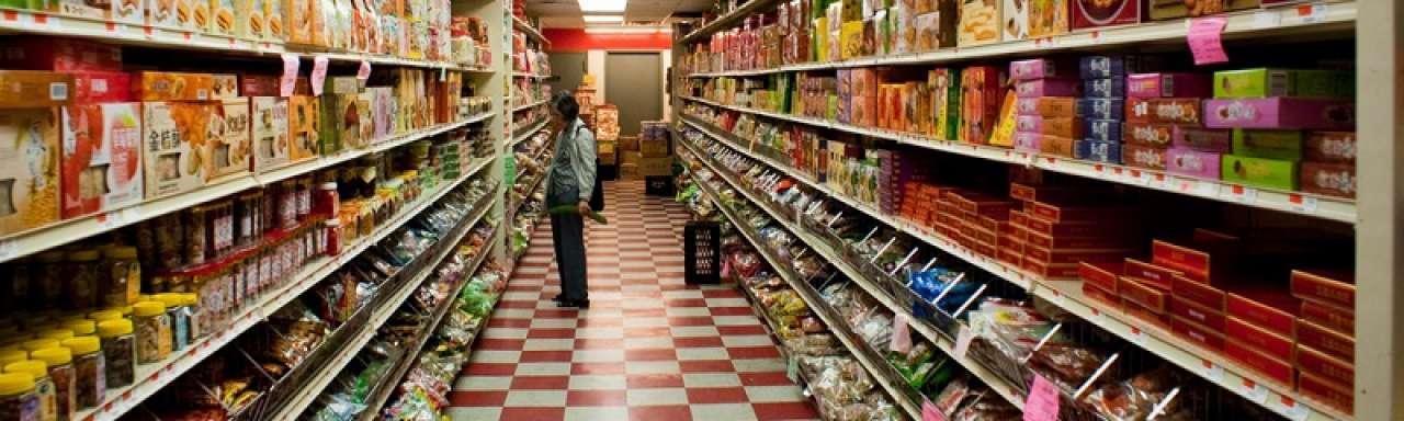 Supermarkt met restpartijen opent in Londen