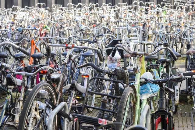 fiets, fietsen, parkeren
