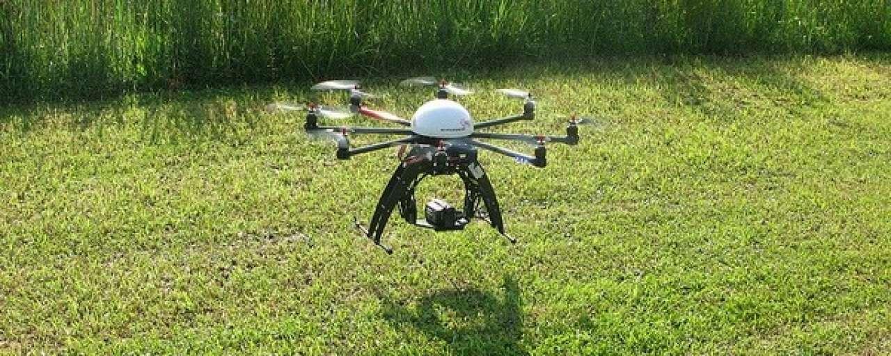 Drone houdt gewassen gezond