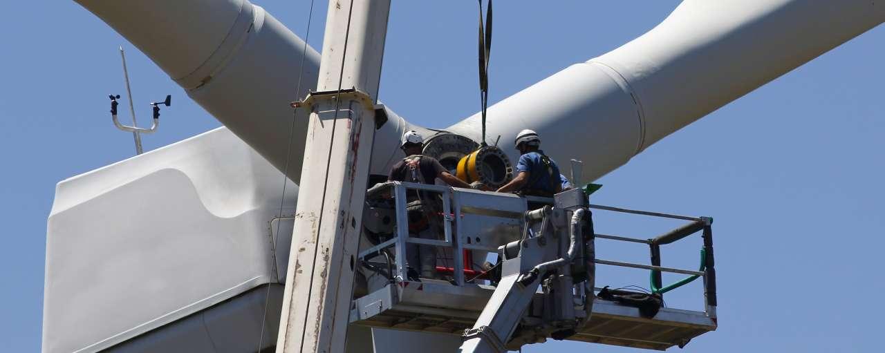 Windturbine, windmolen, constructie, bouw, duurzame energie, windenergie