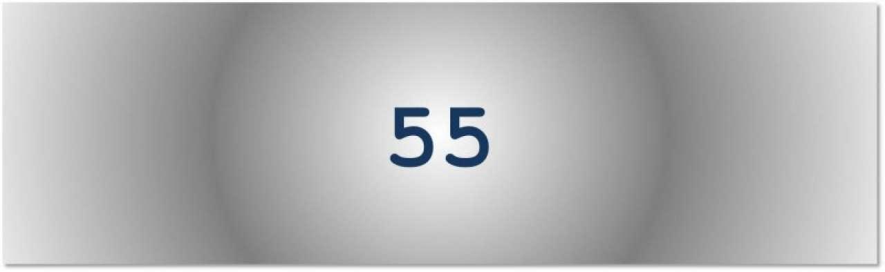 Getal van de dag: 55