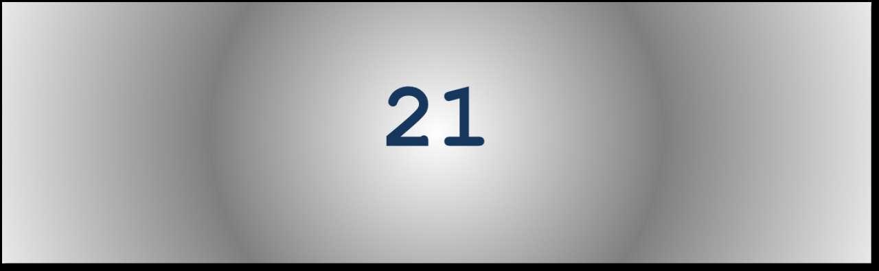Getal van de dag: 21