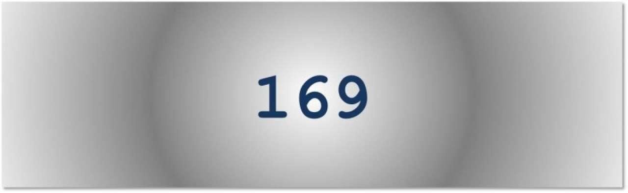 Getal van de dag: 169