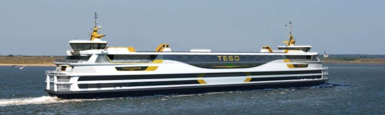 Naar Texel met veerboot op aardgas