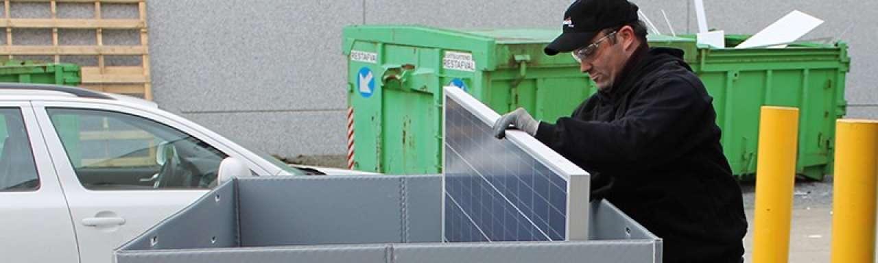 Inleveren afgedankte zonnepanelen gemakkelijker