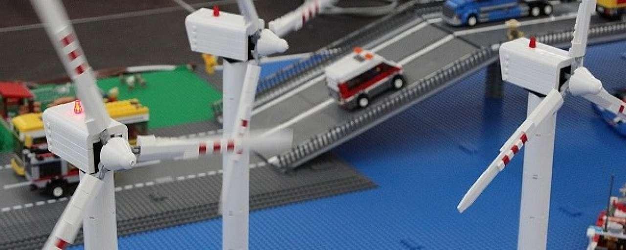 Eerste windstroom voor duurzame blokjes Lego