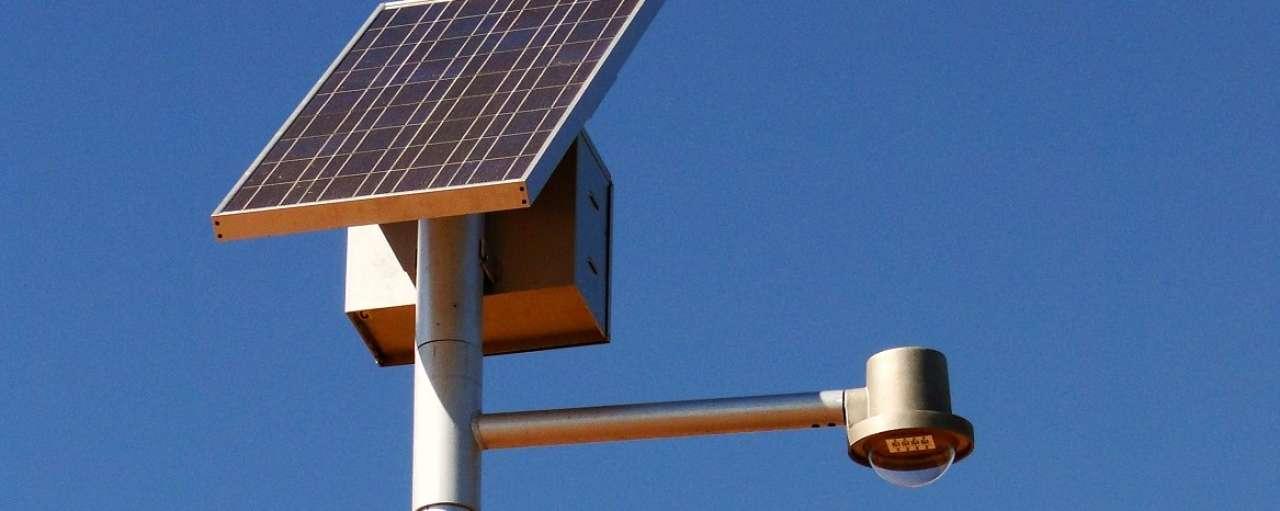 Lantaarn met zonnepaneel